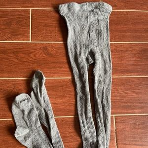 NEVER WORN grey Hue sweater tights